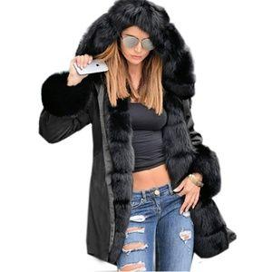 Jackets & Blazers - 💥Women's Winter Thicken Faux Fur Parka Coat